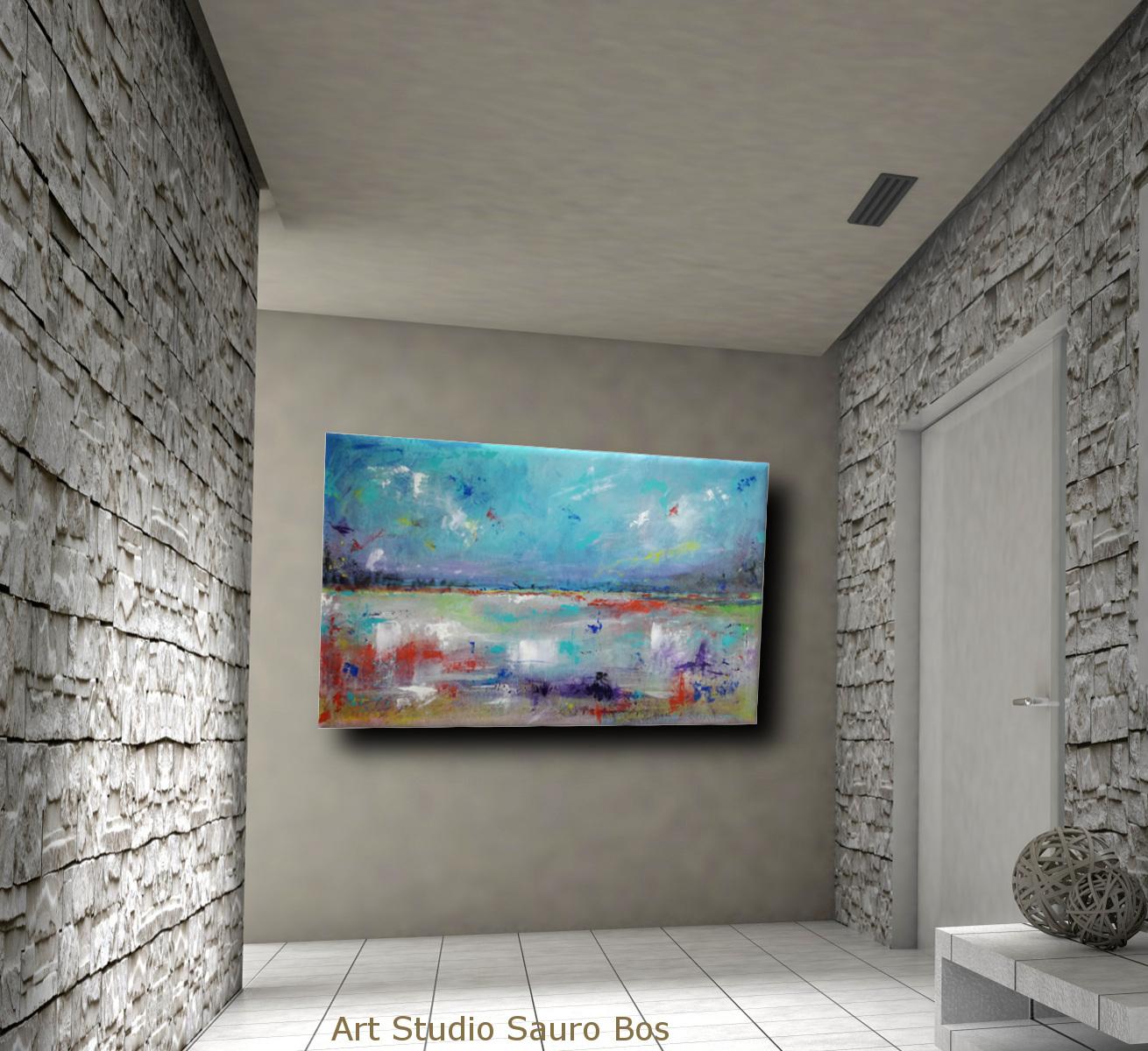 astratto paesaggio c008 - dipinti astratti paesaggio120x60