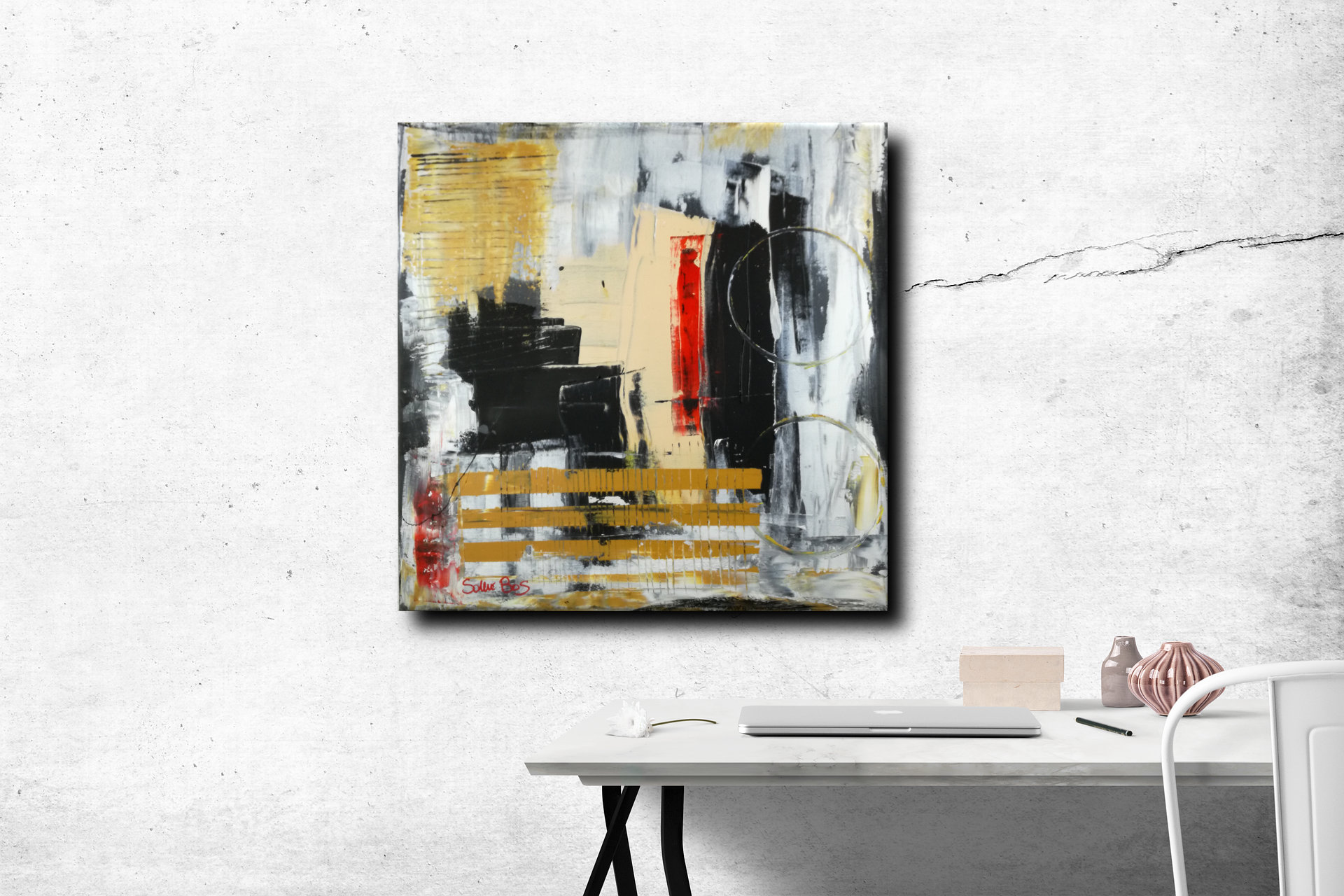 dipinti moderni c006 - quadri moderni  fatti a mano 70x70