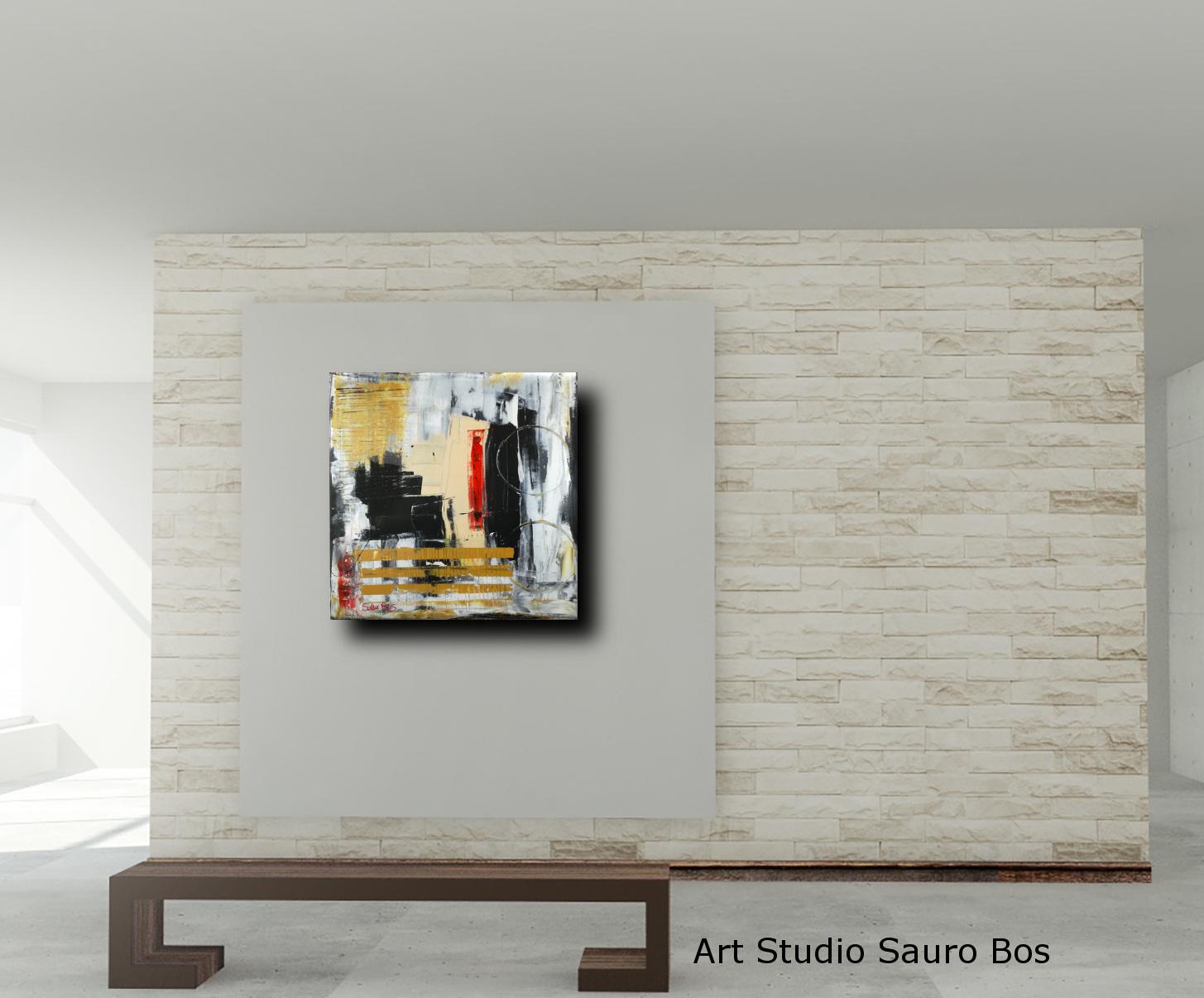 dipinti moderni su tela c006 - quadri moderni  fatti a mano 70x70