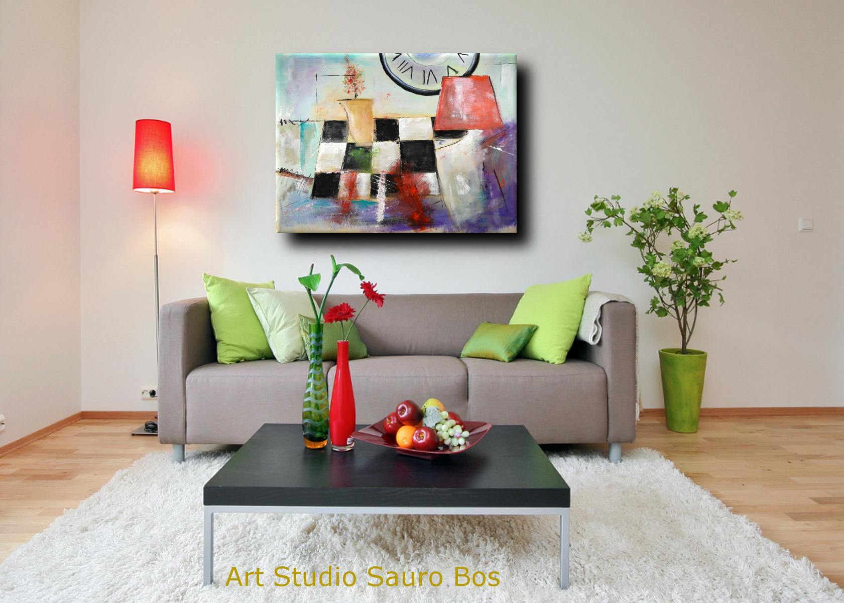 quadri moderni fatti a mano 120x90 xxl | sauro bos