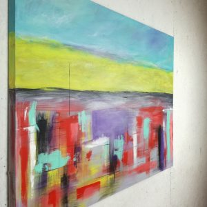 landescape abstract dx 300x300 - quadri astratti per arredamento paesaggio moderno xxl