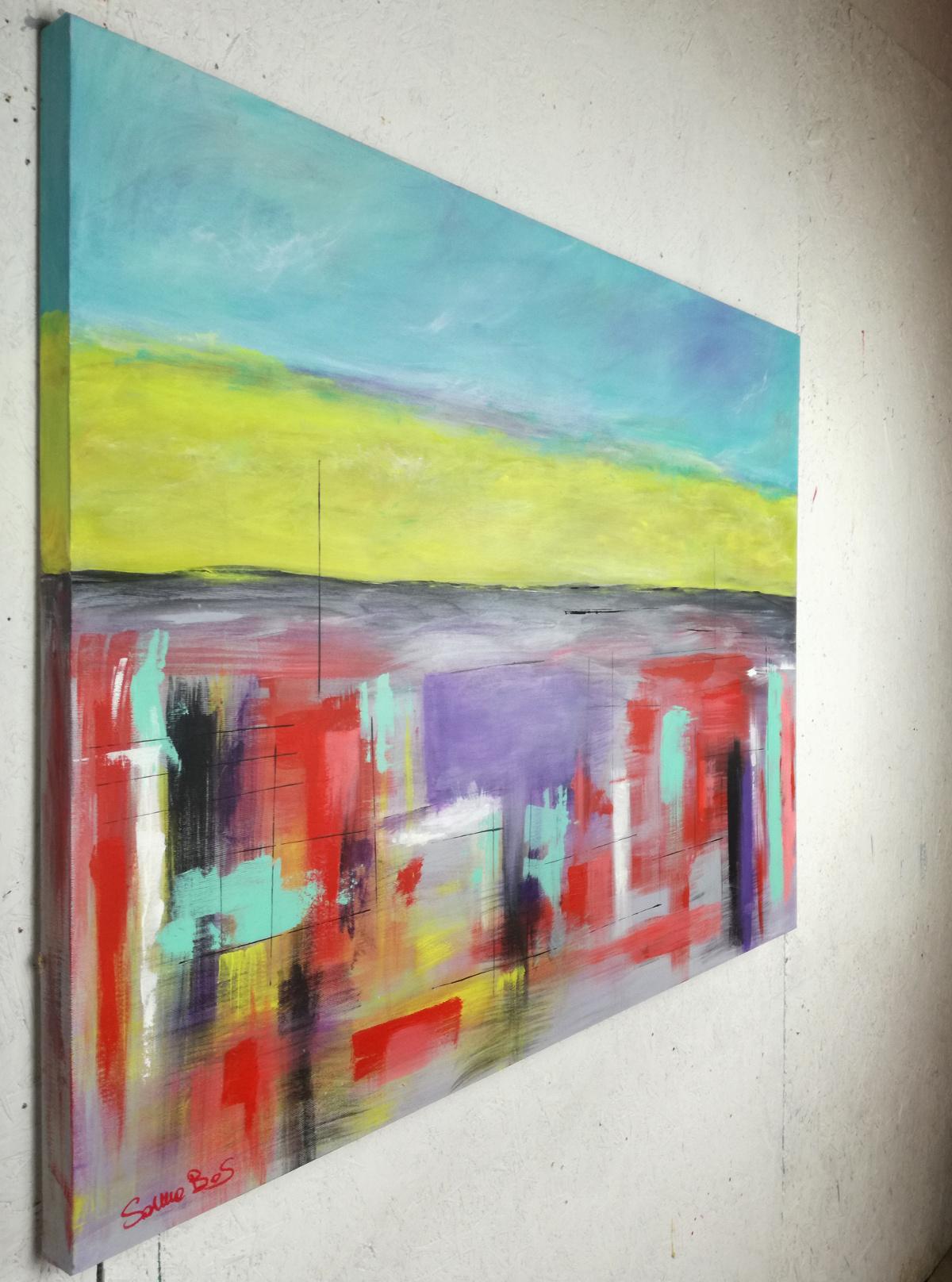landescape abstract dx - quadri astratti per arredamento paesaggio moderno xxl