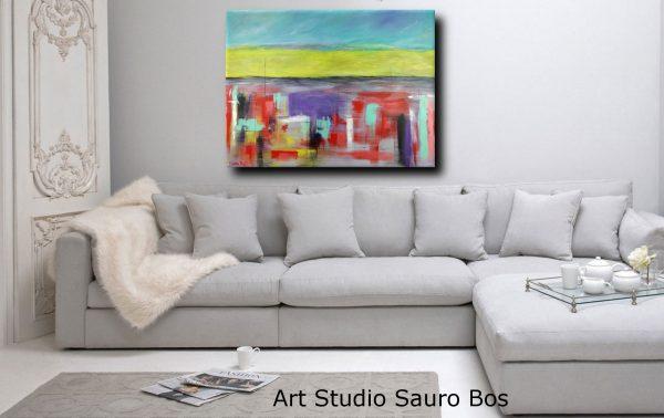 landescape abstract sogg 600x378 - quadri astratti per arredamento paesaggio moderno xxl