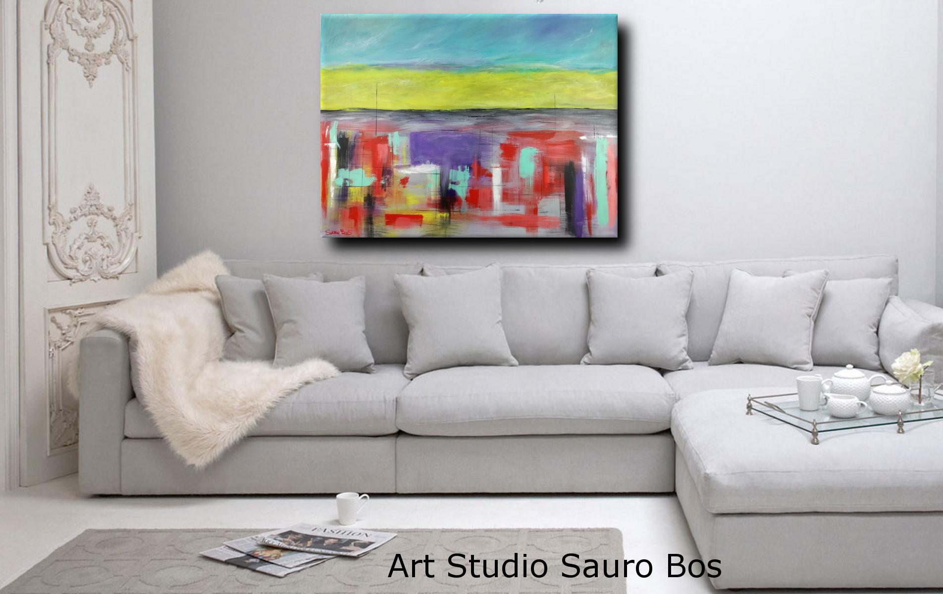 landescape abstract sogg - quadri astratti per arredamento paesaggio moderno xxl