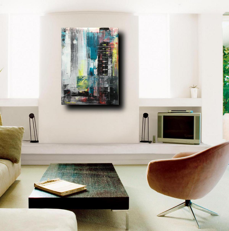 living astratto c022 - dipinti moderni  fatti a mano 80x60