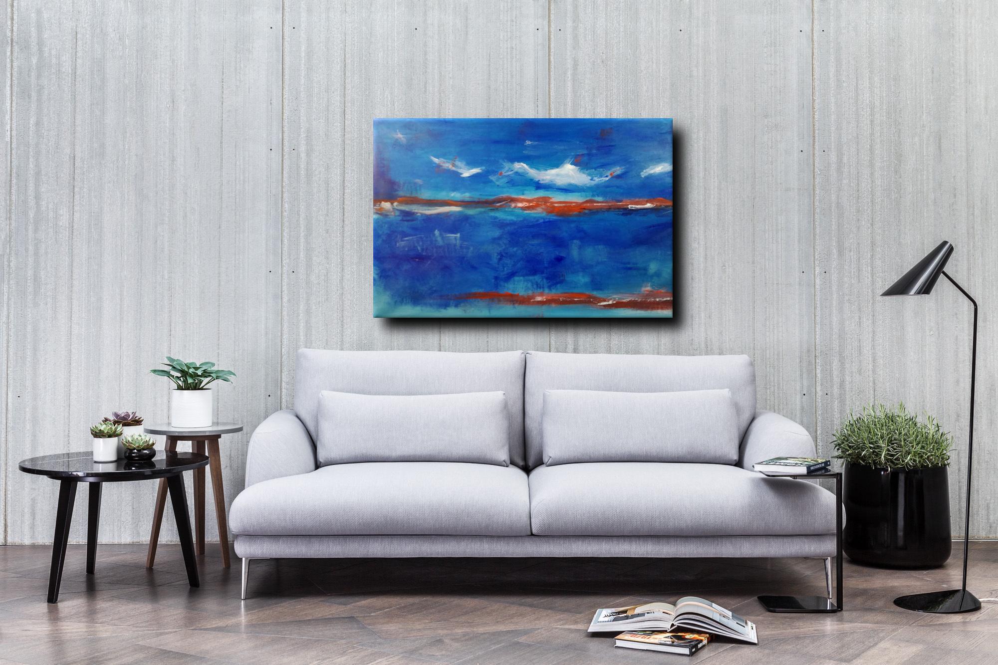 paesaggio astratto moderno c007 - quadro moderno paesaggio astratto