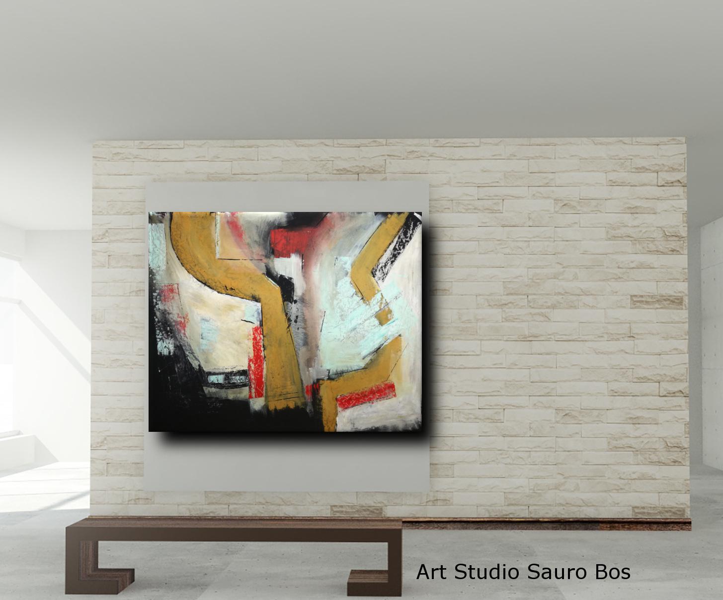 quadri astratti colorati c010 - dipinti astratti fatti a mano 120x90 xxl