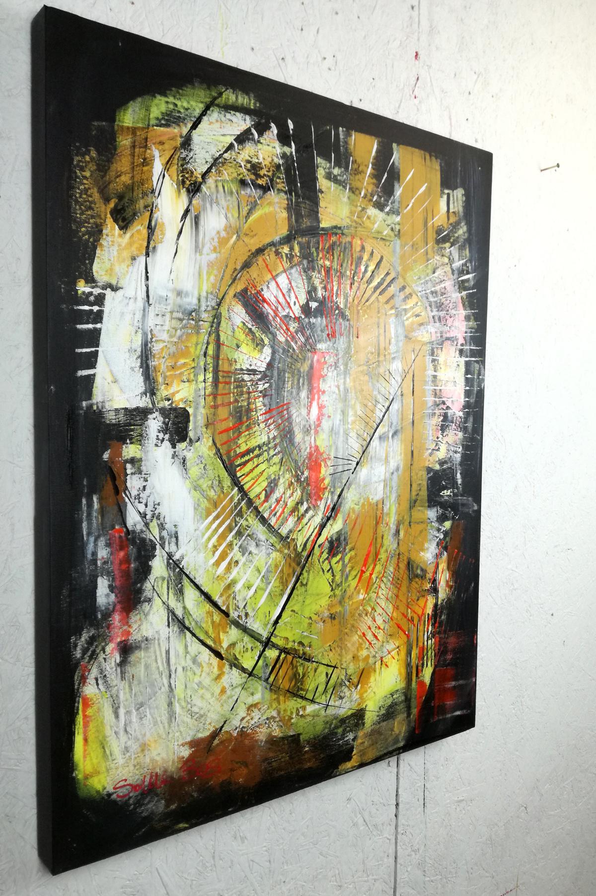 quadri astratti in studio c003 - quadri moderni  fatti a mano 80x60