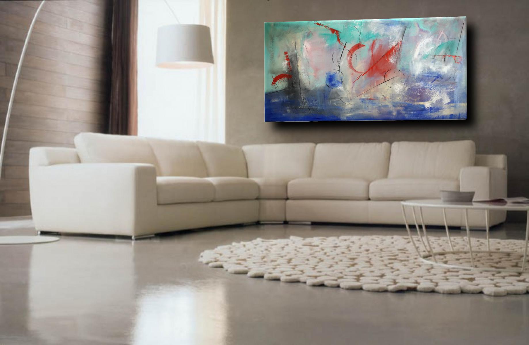 quadri astratti offshore 2 - quadri astratti per arredamento moderno xxl -200x100