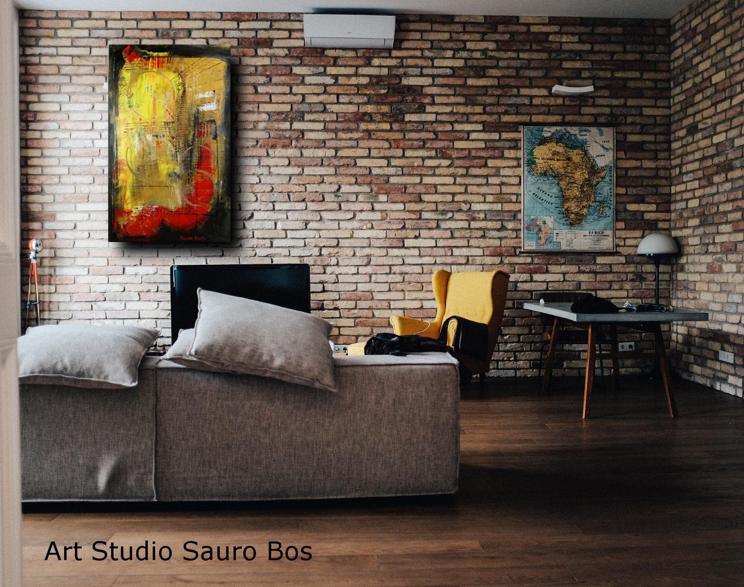 quadri astratti olio su tela moderni c005 - dipinti moderni  fatti a mano 80x50