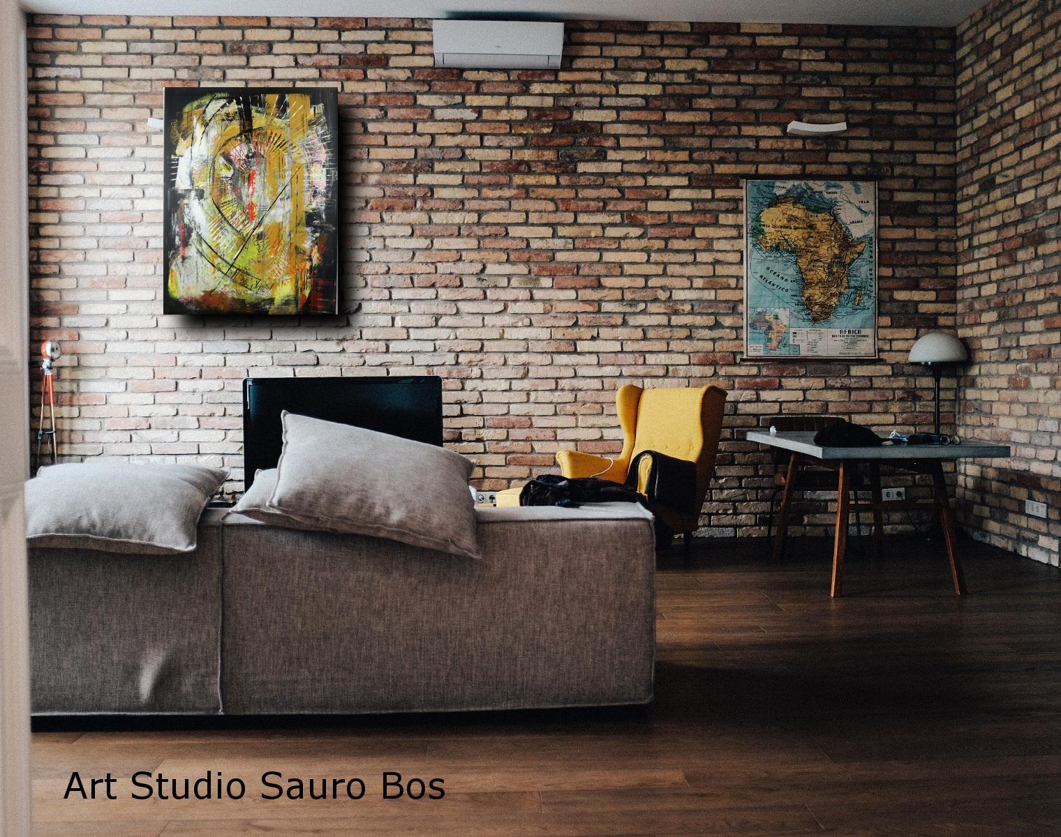 Quadri moderni fatti a mano 80x60 sauro bos for Quadri su tela astratti