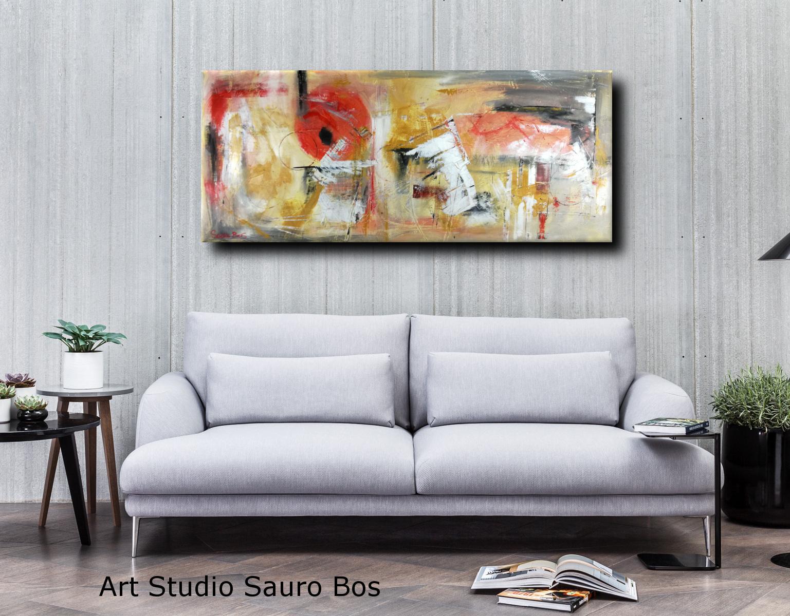 quadri astratti su tela c01 - quadri astratti informali per soggiorno 150x65