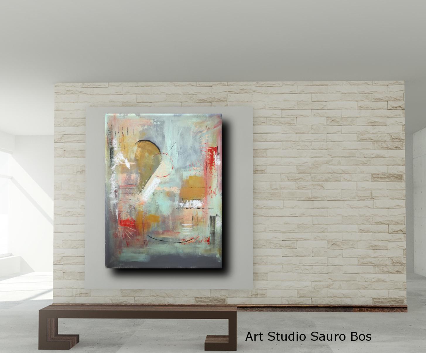 quadri colorati astratti c012 - quadri astratti fatti a mano chiari 120x90