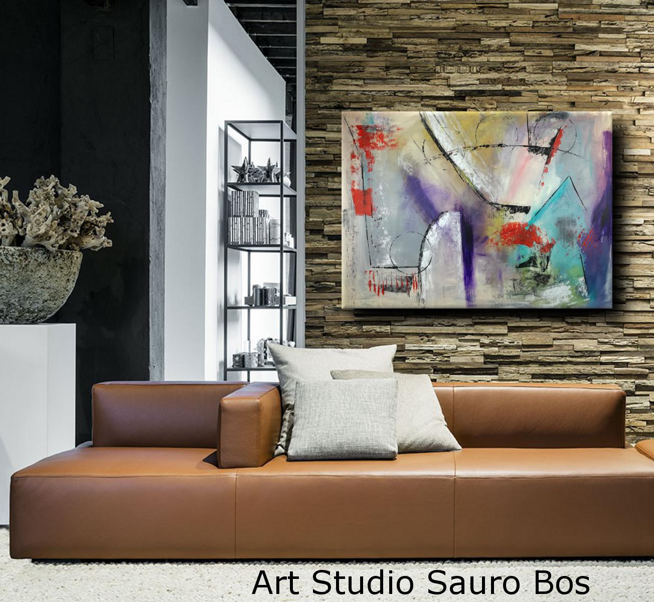 quadri dipinti a amano c015 - quadri moderni per arredamento contemporaneo