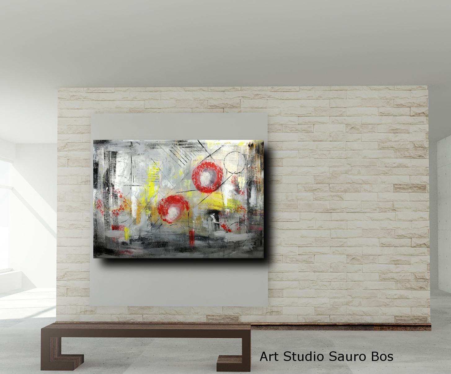 quadri dipinti a mano c007 - quadri astratti informali per soggiorno 150x100