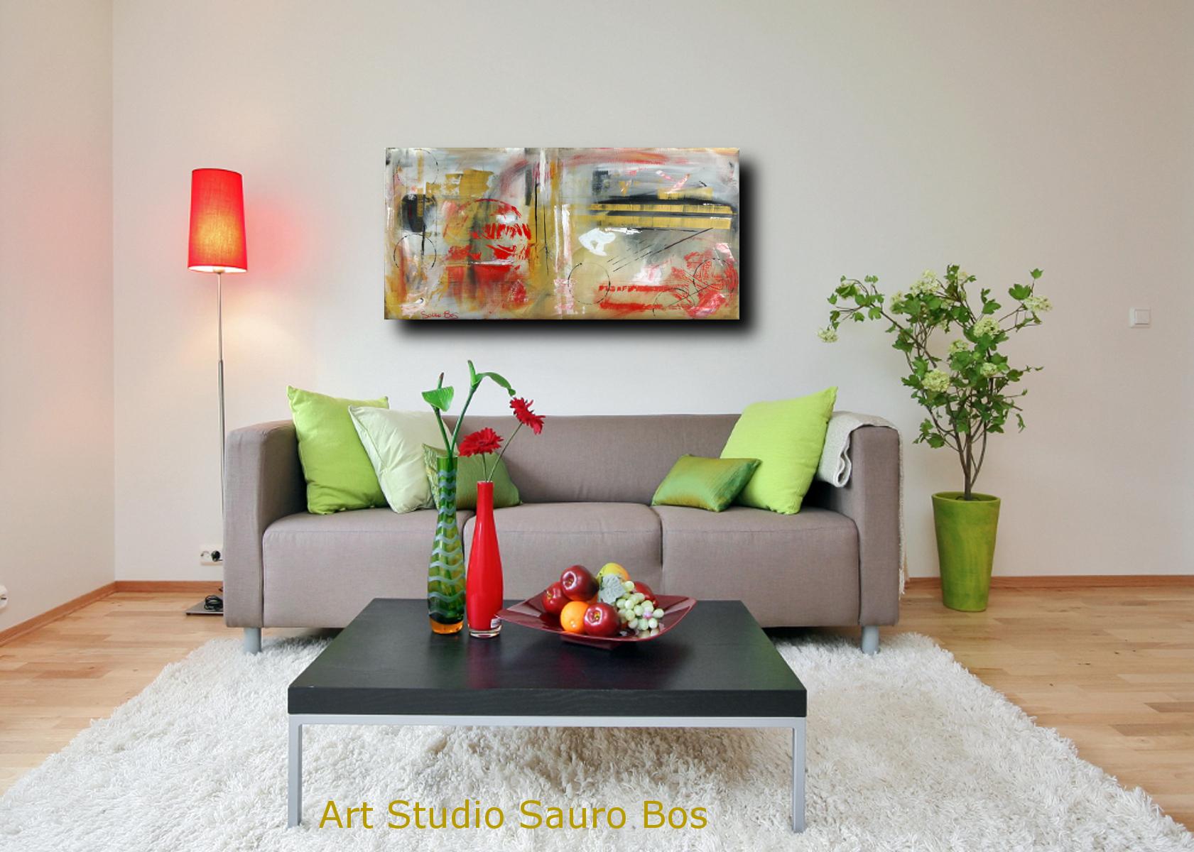 Quadri moderni ad olio colorati su tela grandi dimensioni for Quadri astratti moderni verticali