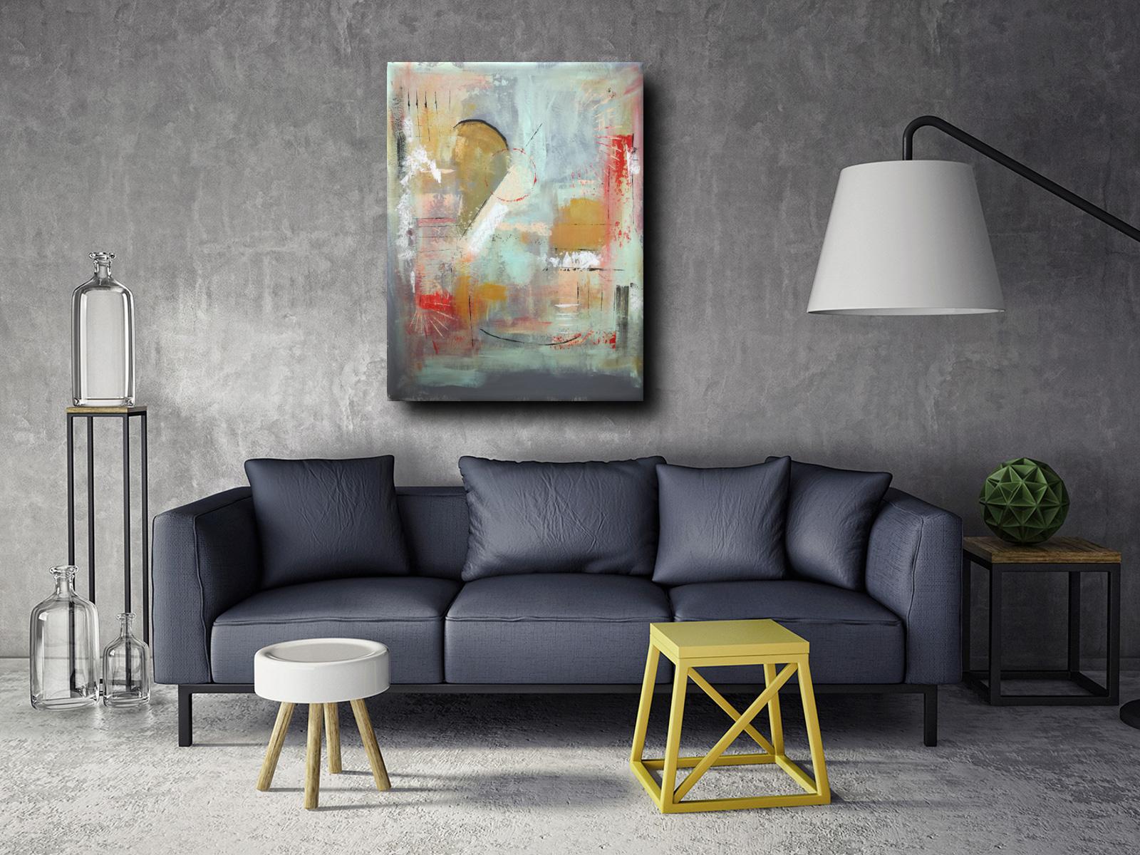 quadri moderni chiari c012 - quadri astratti fatti a mano chiari 120x90