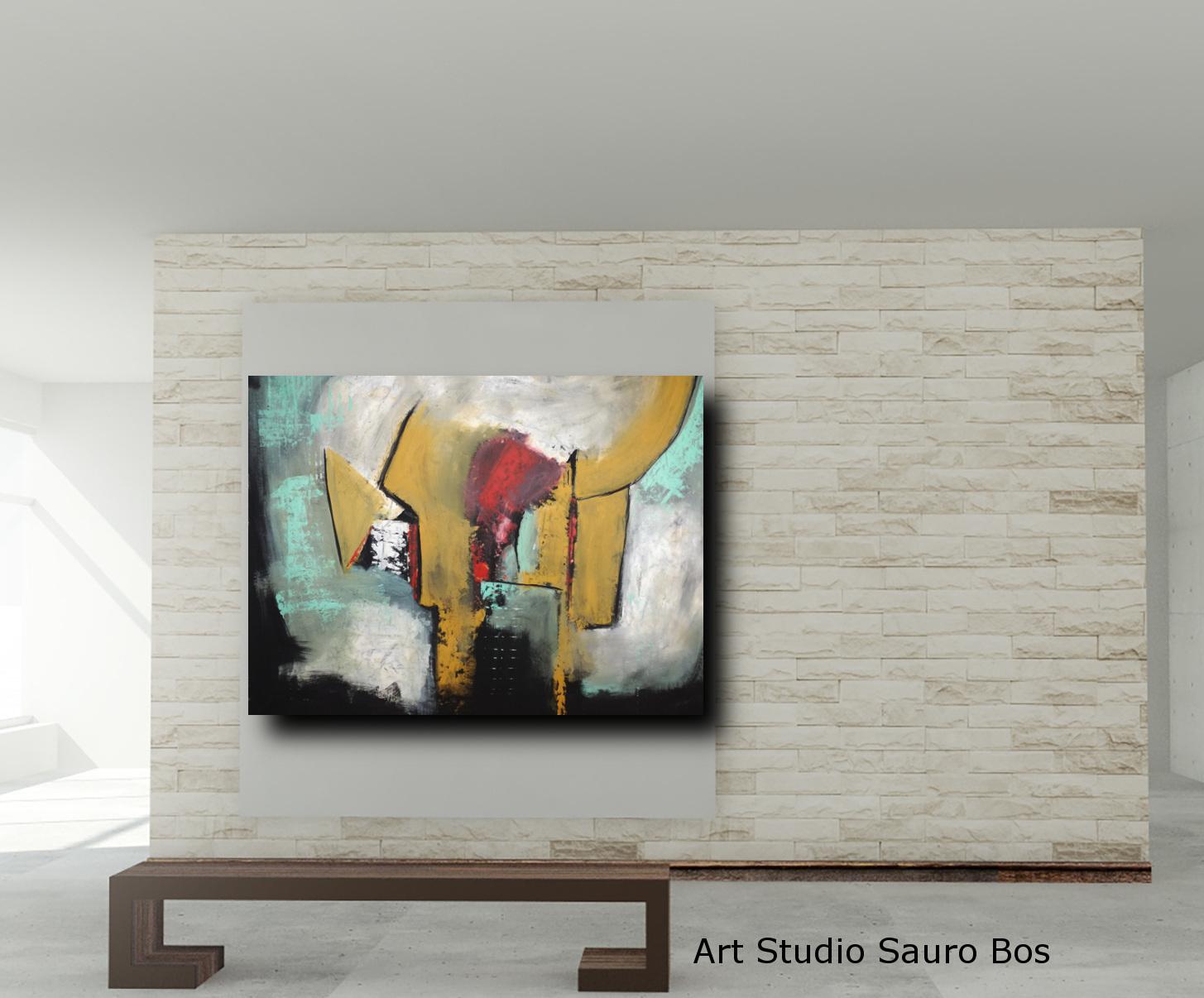 quadri astratti fatti a mano 120x90 xxl | sauro bos
