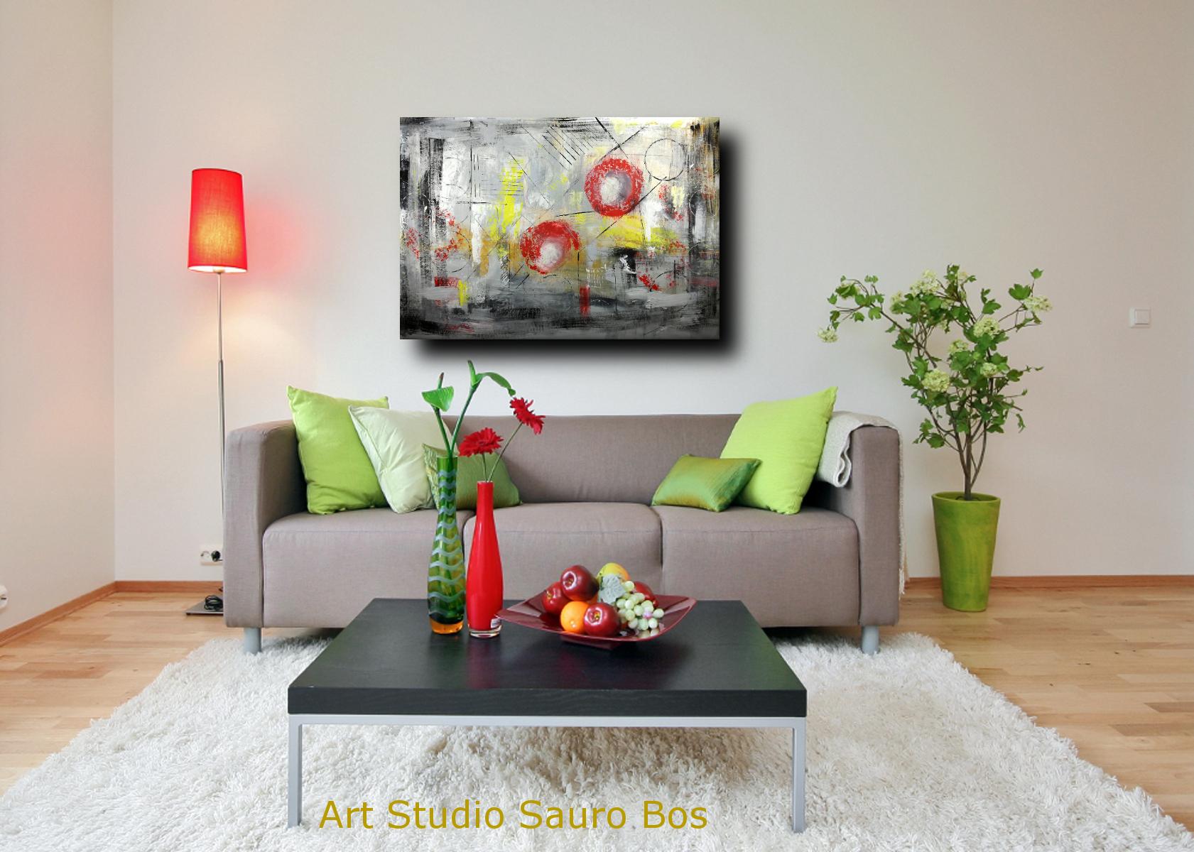 quadri moderni dipinti a mano c007 - quadri astratti informali per soggiorno 150x100
