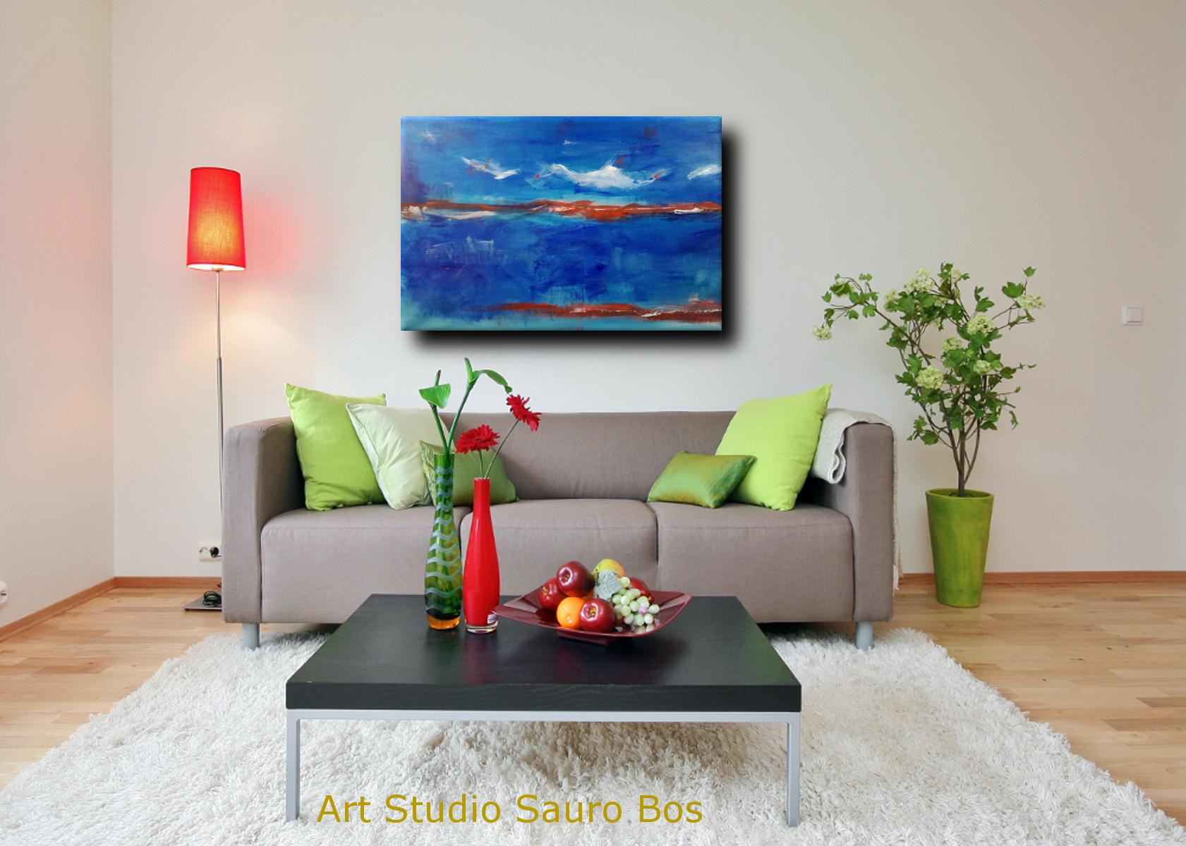 quadri moderni paesaggio c007 - quadro moderno paesaggio astratto