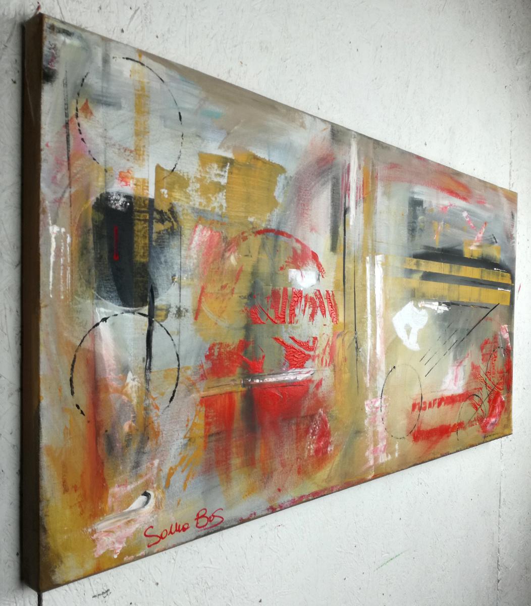 quadri moderni ad olio colorati su tela grandi dimensioni 120x60 ...
