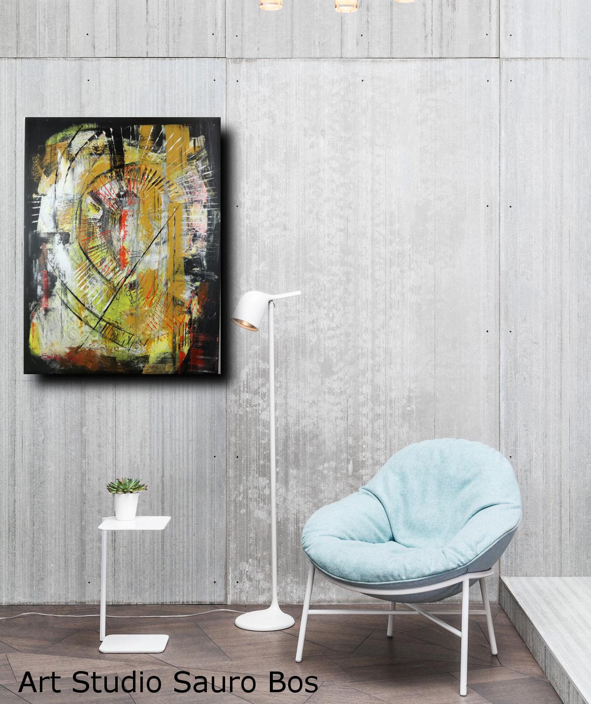 quadro astratto c003 - quadri moderni  fatti a mano 80x60