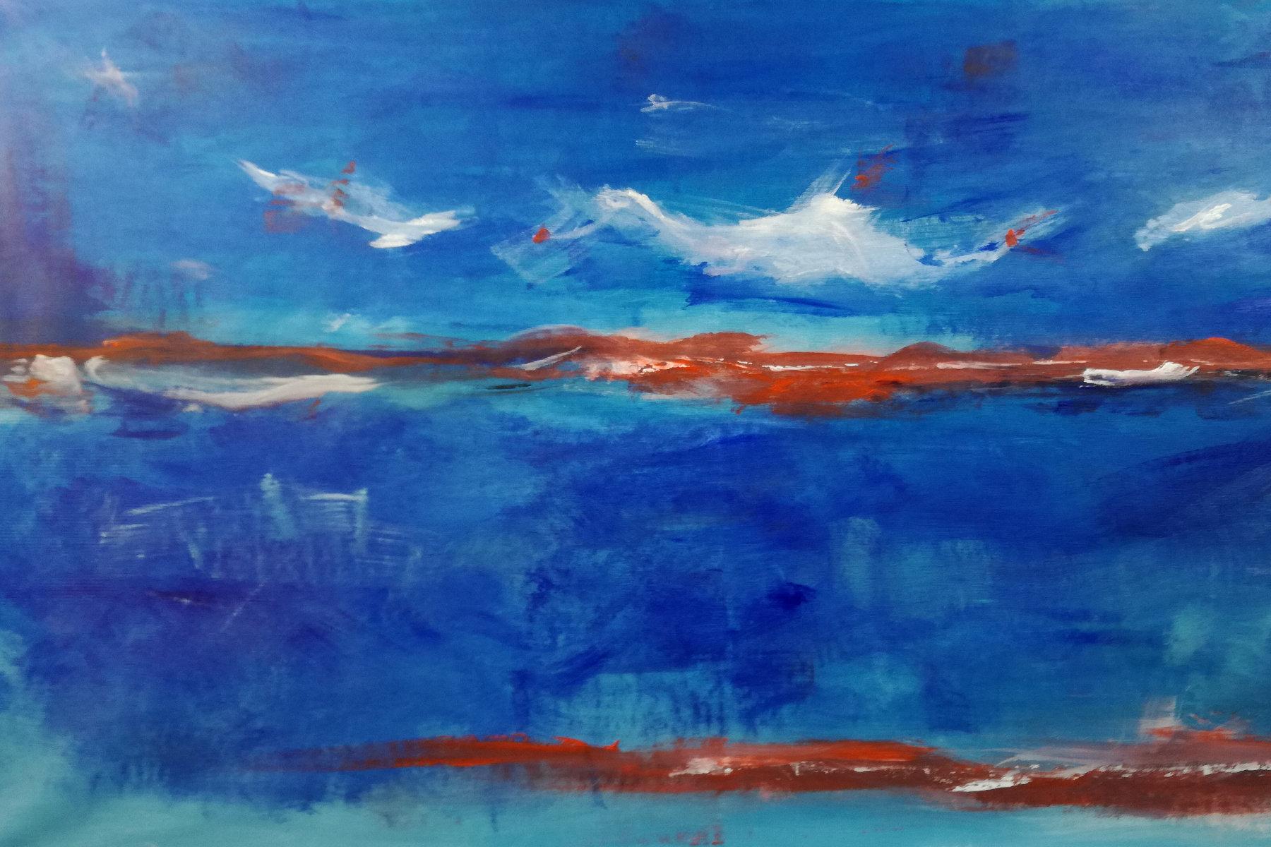 quadro astratto paesaggio c007 - quadro moderno paesaggio astratto