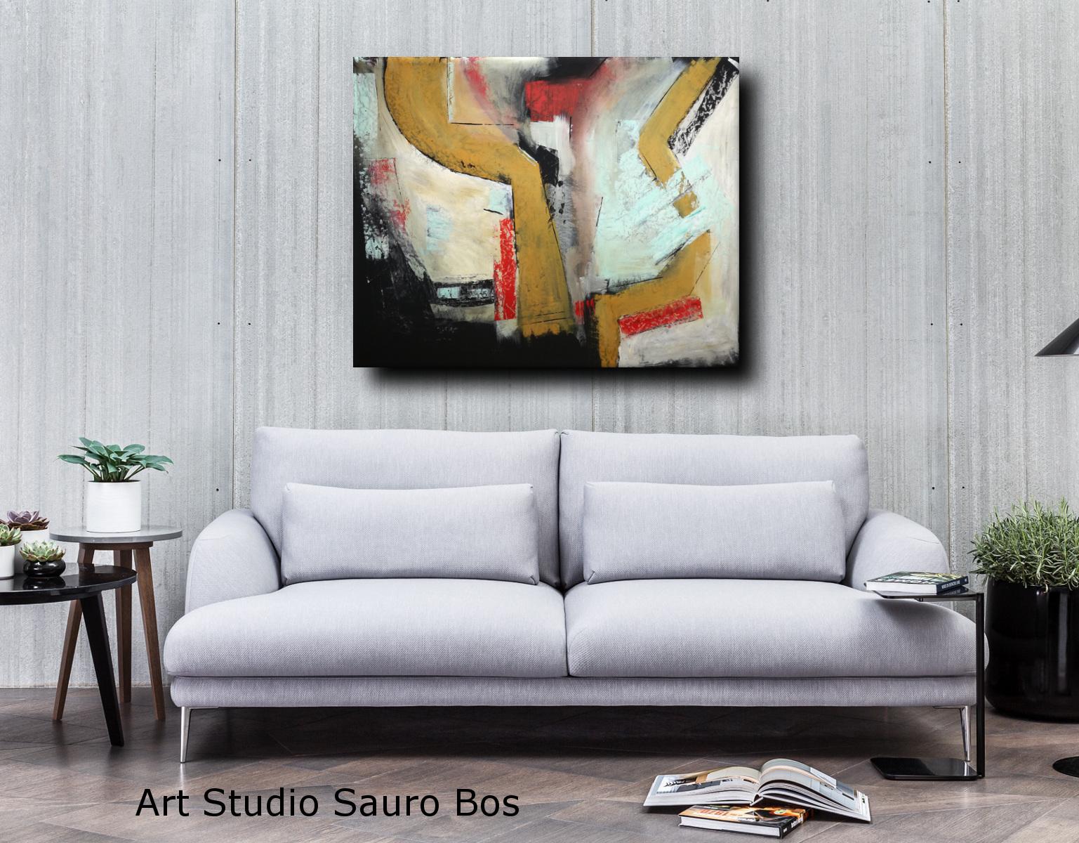 quadro moderno su tela c010 - dipinti astratti fatti a mano 120x90 xxl