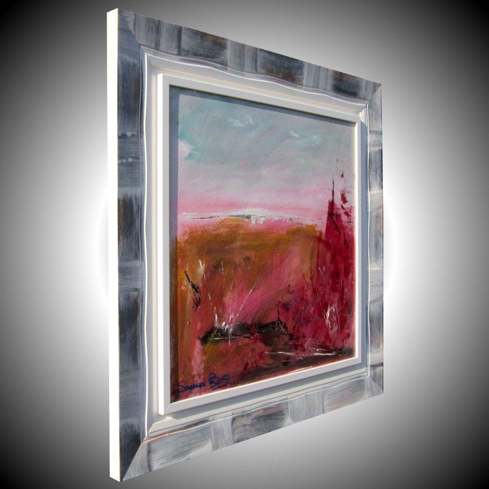 rosso relatovodx - quadro  moderno con cornice olio su tela moderno