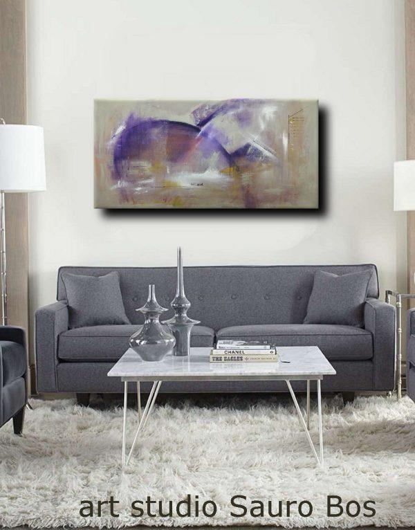 C37 quadro astratto su tela 600x766 - quadri moderni ad olio colorati su tela grandi dimensioni 120x60-viola