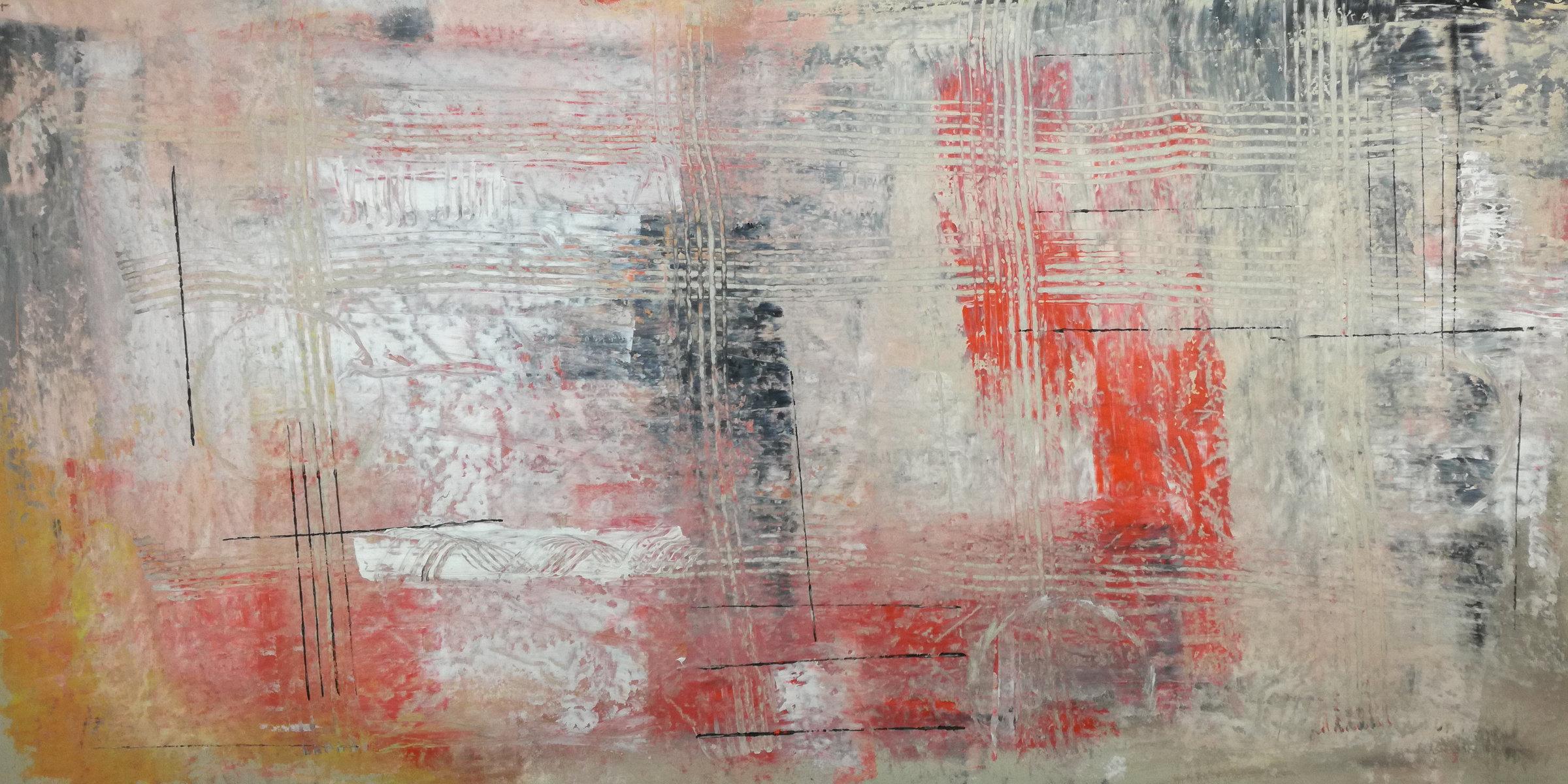 astratto C036 - quadri moderni ad olio colorati su tela grandi dimensioni 120x60x4