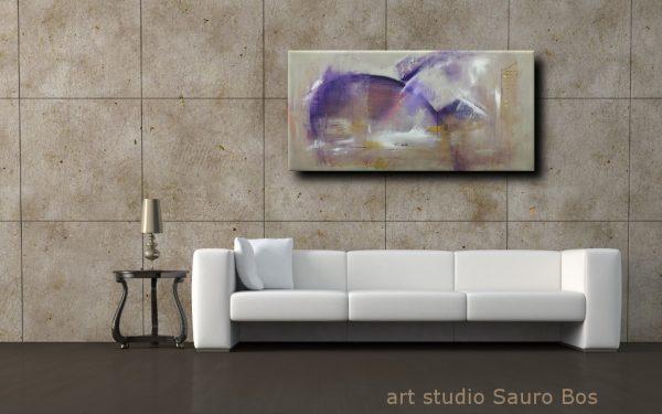 astratto C037 moderno 600x375 - quadri moderni ad olio colorati su tela grandi dimensioni 120x60-viola