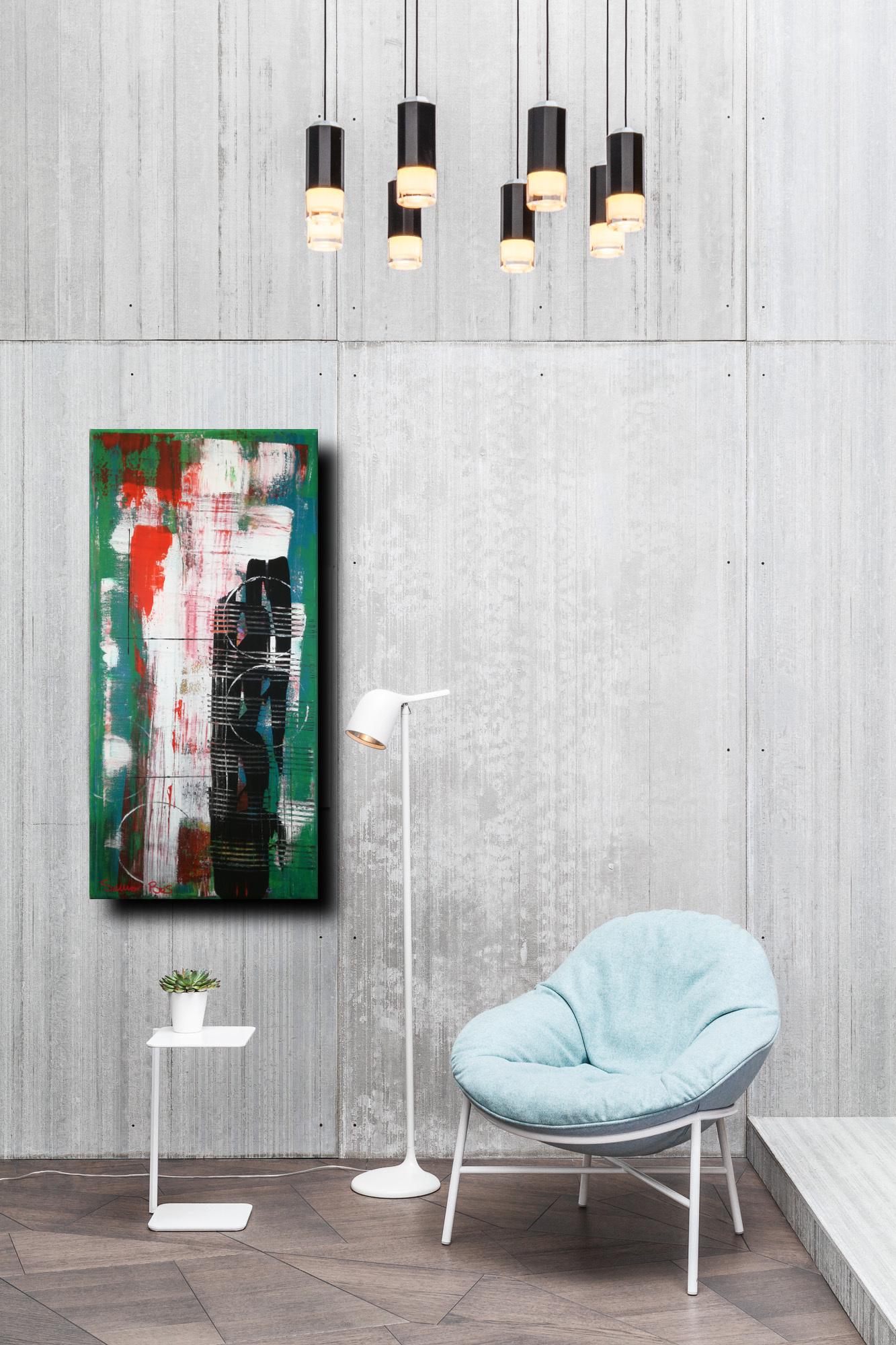 astratto c031 sofa - dipinti astratti fatti a mano 70x35olio su tela