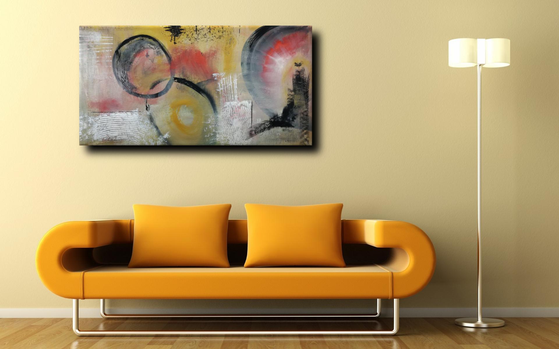 astratto c035 div - dipinto astratto colorato 120x60