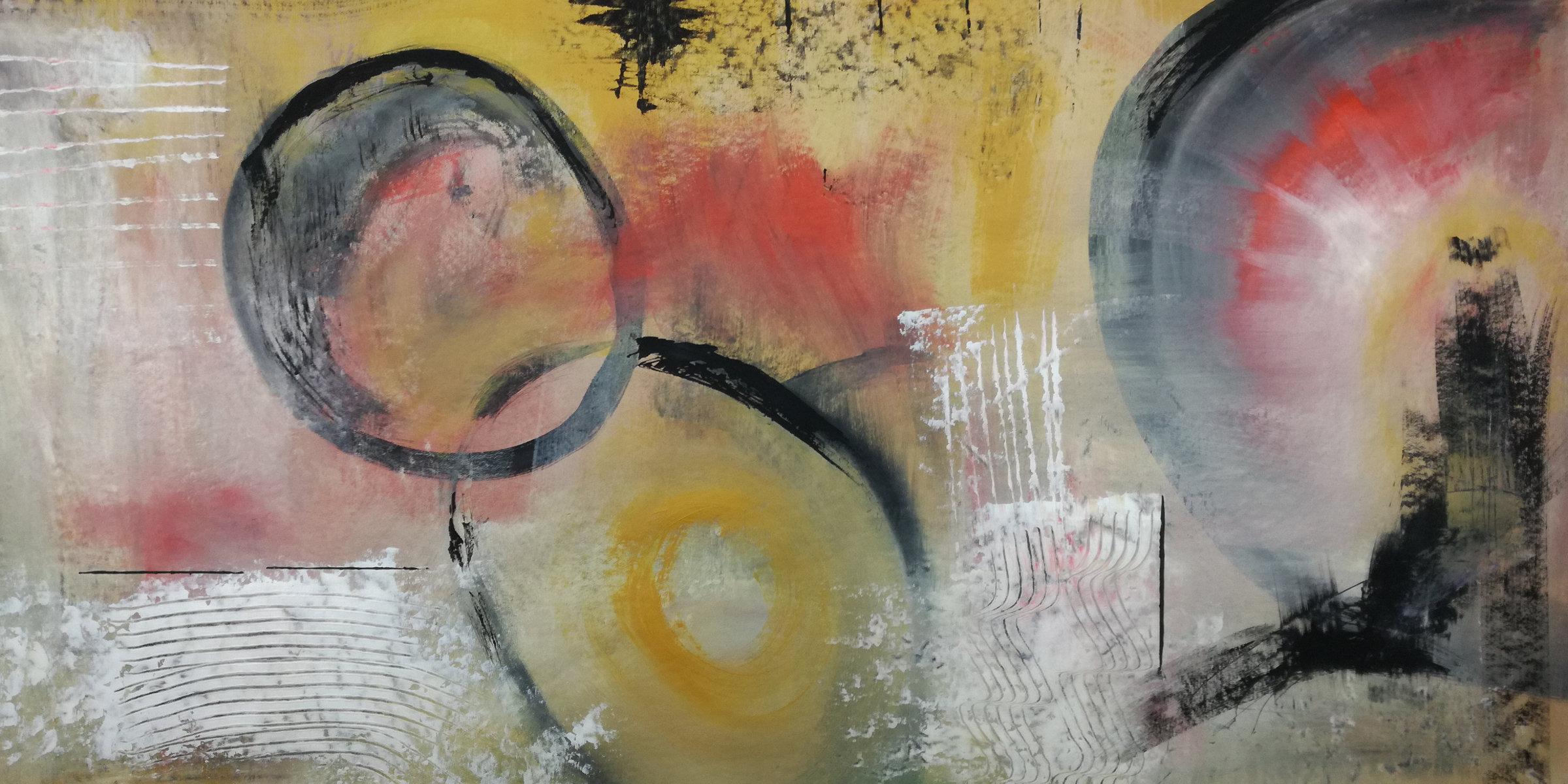 astratto c35 - dipinto astratto colorato 120x60