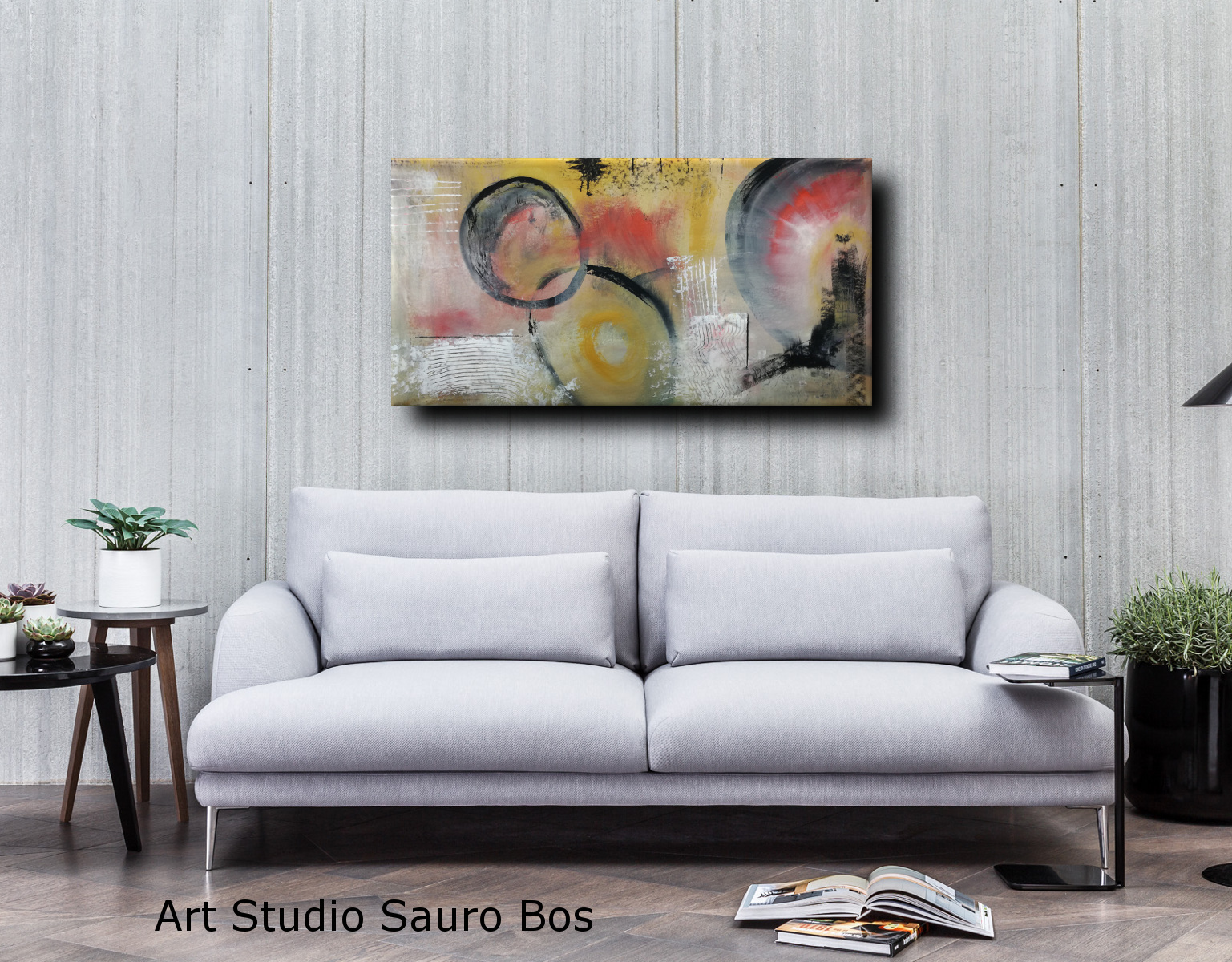 astratto div bianco c035 - dipinto astratto colorato 120x60