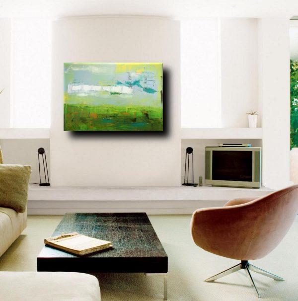 astratto forest 2 sal 600x606 - quadri moderni per arredamento contemporaneo 120x80 verde