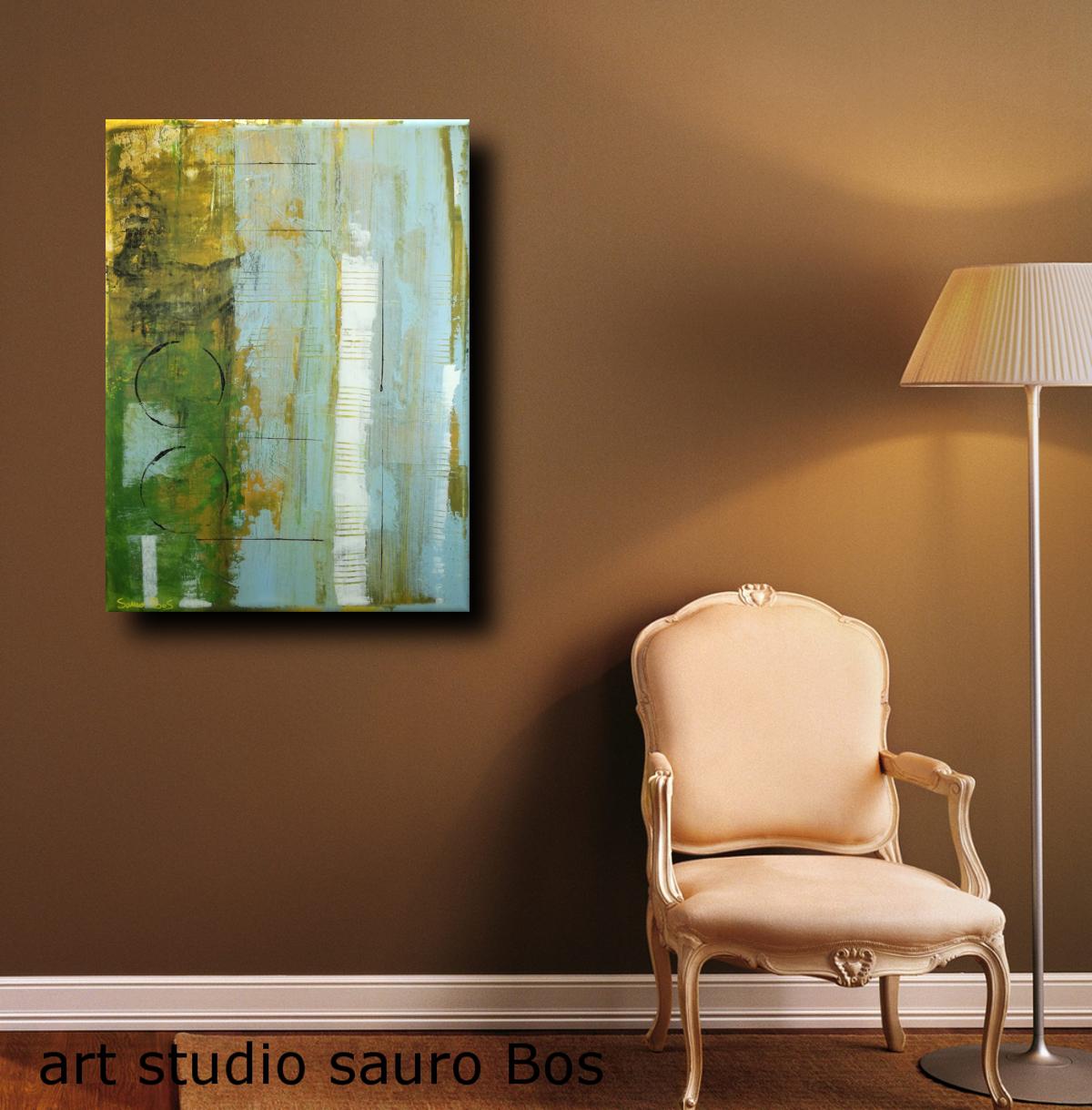 astratto forest sed - dipinti moderni  fatti a mano 80x60 olio su tela
