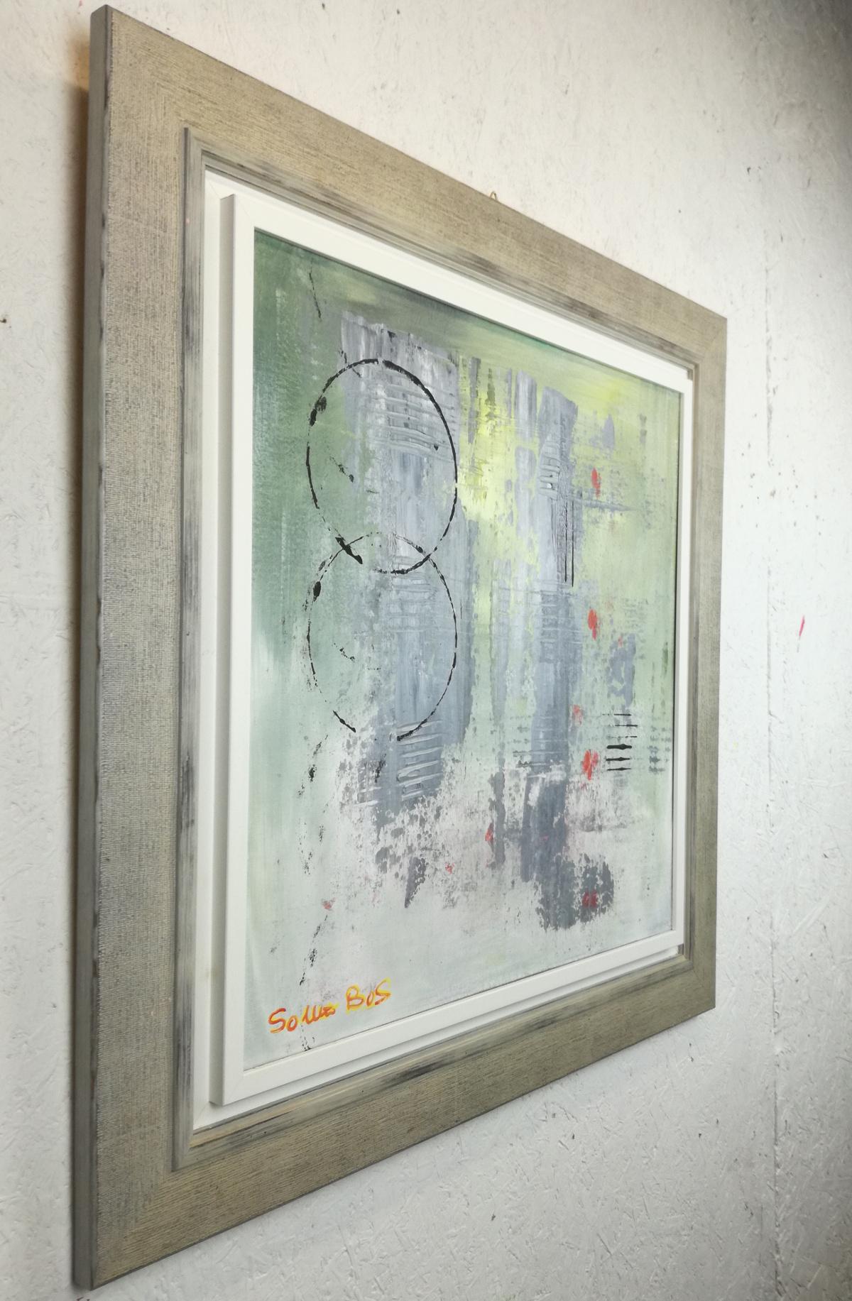 quadro-astratto-con-cornice-moderna-chiarista | sauro bos