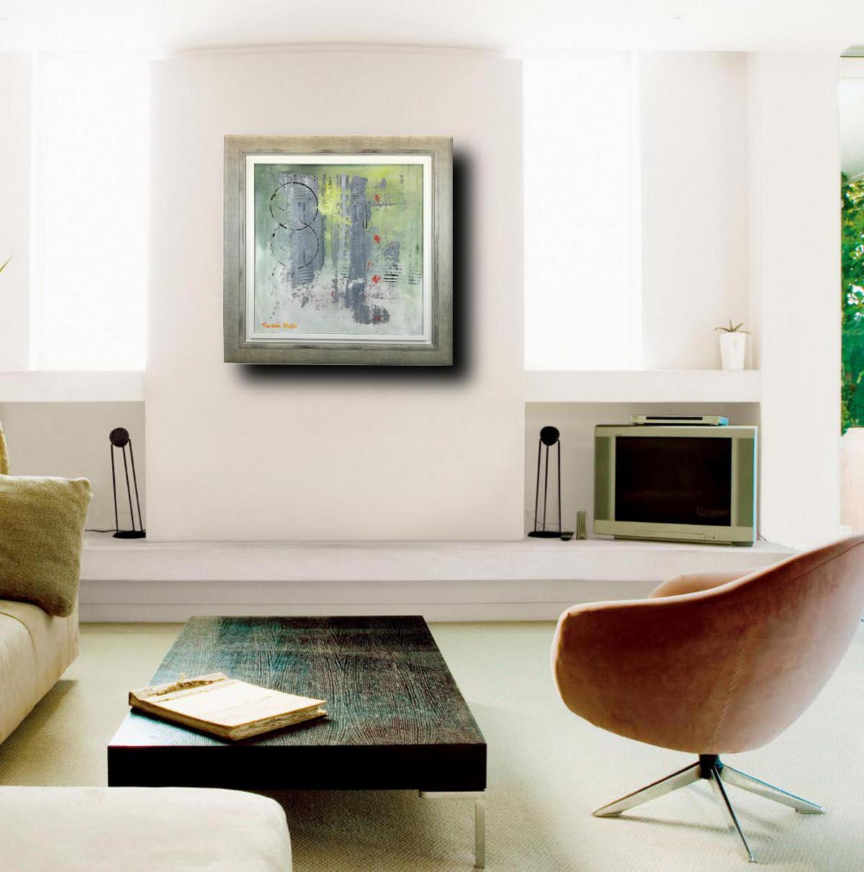 astratto moderno c019 - quadro-astratto-con-cornice-moderna-chiarista