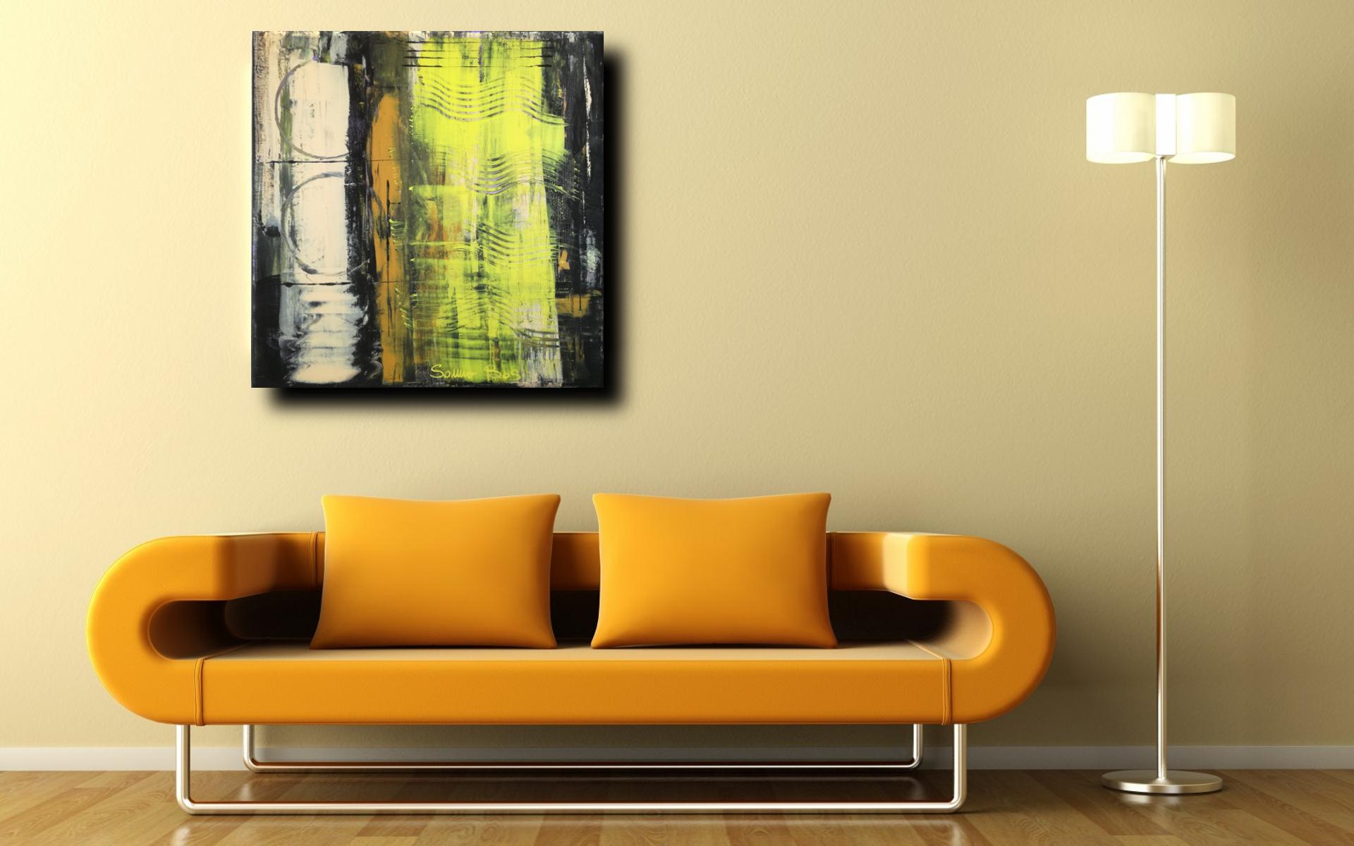 astratto moderno sofa c029 - quadri moderni  fatti a mano 50x50