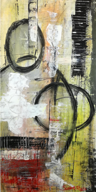 c028 - dipinti moderni  fatti a mano 70x35olio su tela