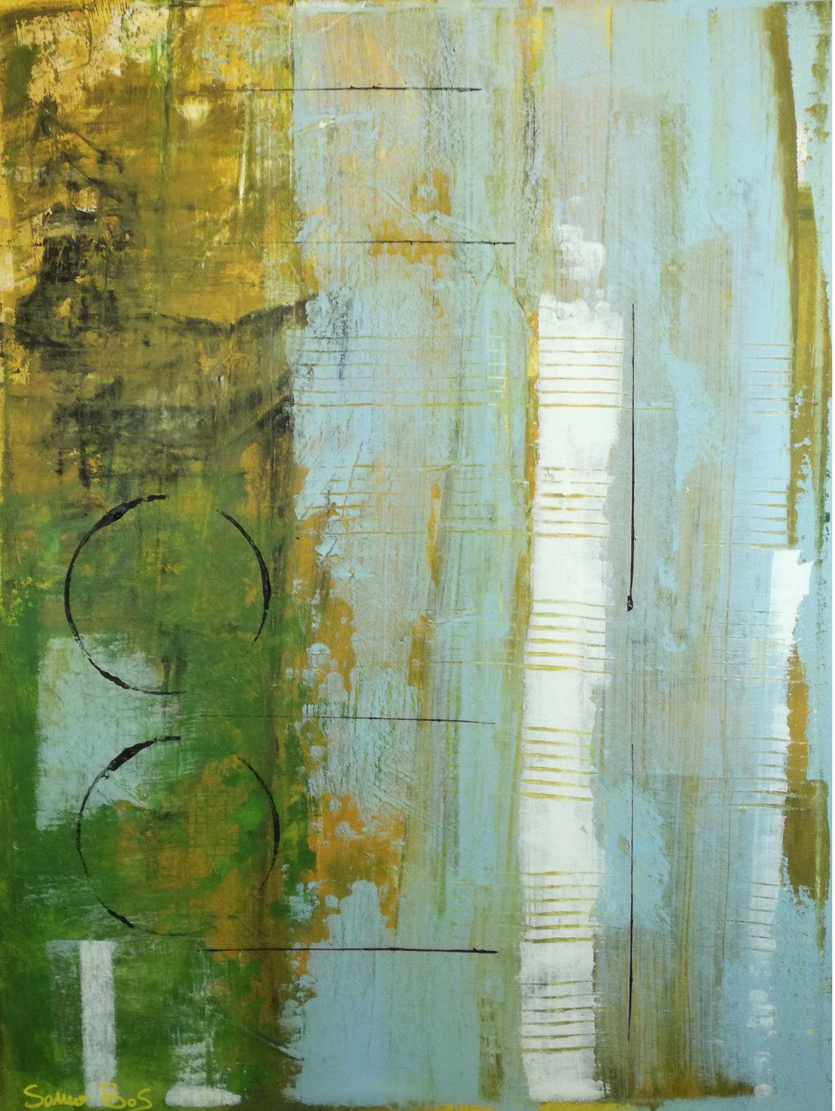 forest 1astratto - dipinti moderni  fatti a mano 80x60 olio su tela