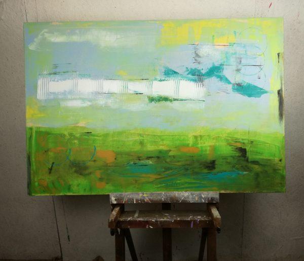 forest 2 astrattostudio 600x515 - quadri moderni per arredamento contemporaneo 120x80 verde