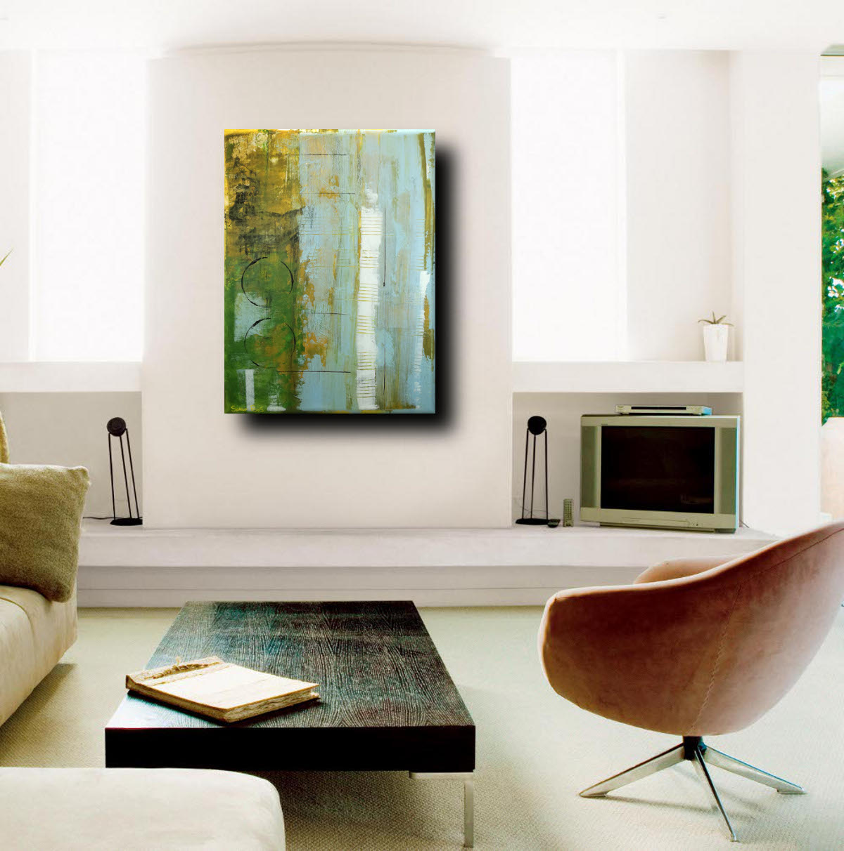 forest living - dipinti moderni  fatti a mano 80x60 olio su tela
