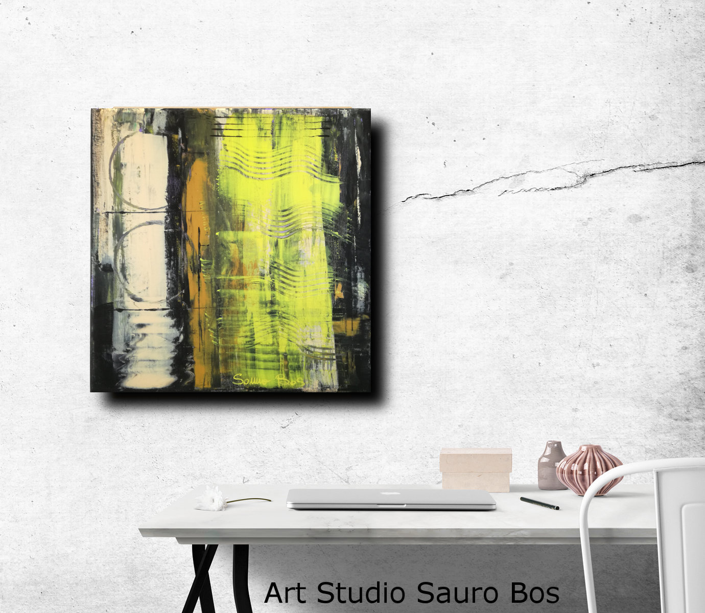 moderni astratti dipinti c029 - quadri moderni  fatti a mano 50x50