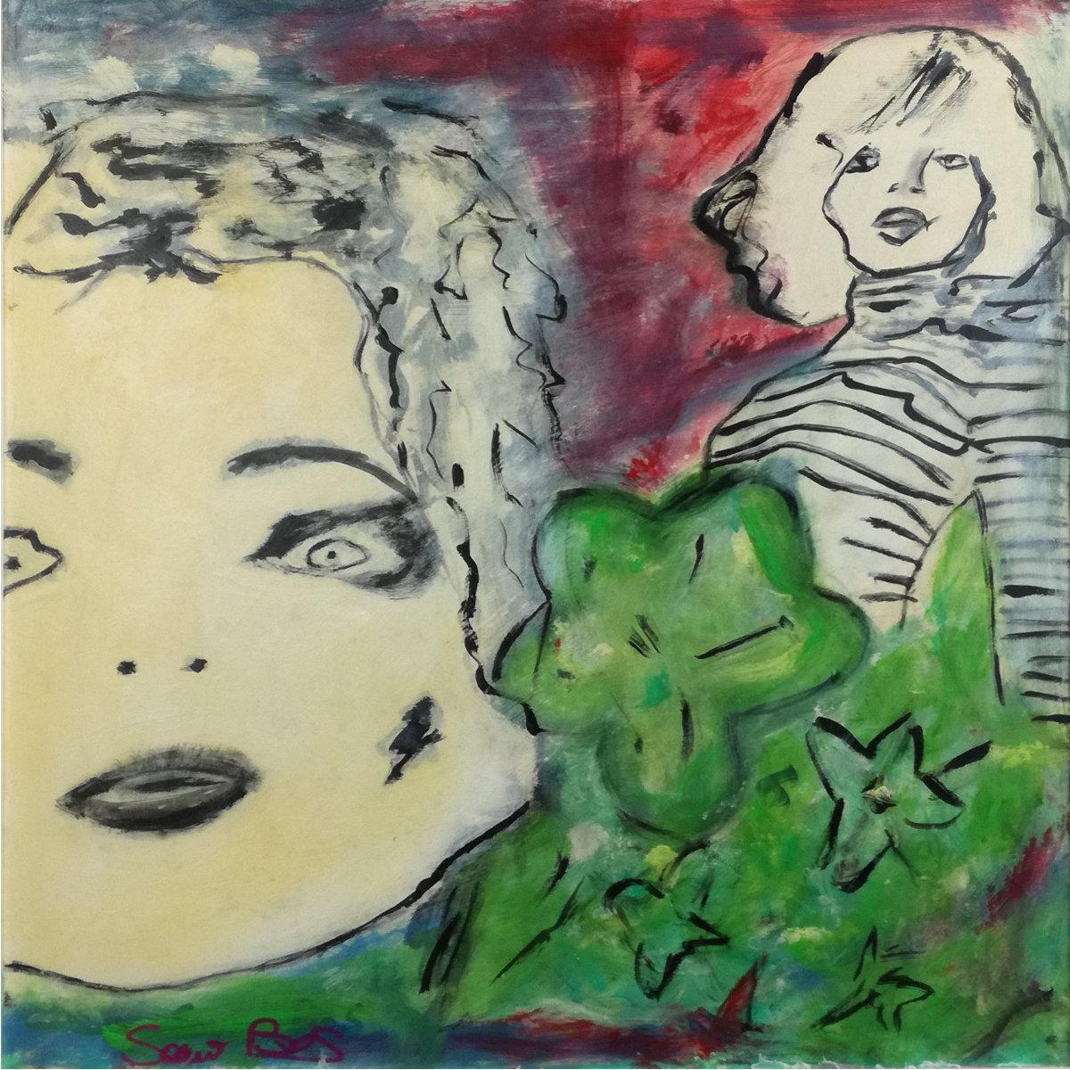 woman 1 - quadro  moderno con cornice olio su tela woman