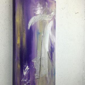 astratto moderno viola 300x300 - dipinti astratti fatti a mano 70x35-viola