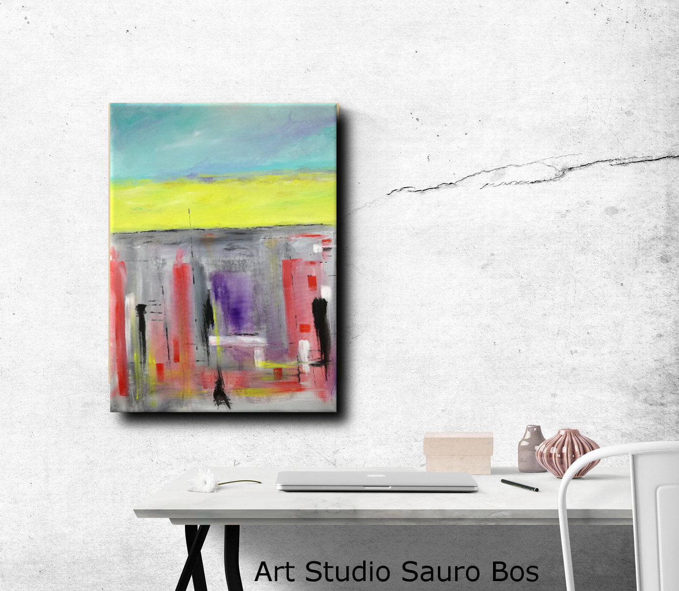 dipinti astratti su tela c065 - dipinti moderni 80x60