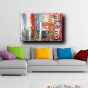 quadri moderni per arredamento contemporaneo 120x80 rosso | sauro bos